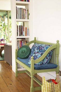 I want a bench made out of my childhood bed.