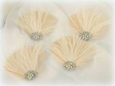 Bridal Fascinator Wedding Fascinator Feather by kathyjohnson3, $120.00