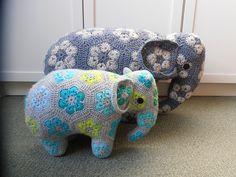 Ravelry: Loxodonta & Elephas the african flower elephants pattern by Anne Rutgrink