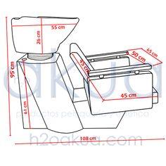 medidas lavacabezas para estética economico | Lavacabezas Elegant con sillon H2oAkua - Productos Peluqueria y ...