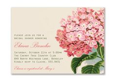 Elaina Vintage Hydrangea Bridal Baby Shower by digibuddhaPaperie, $15.00