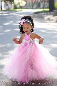 Items similar to Pink tutu dress with matching headband Wedding Pageant Flower girl on Etsy Pink Tutu Dress, Tutu Dresses, Little Girl Dresses, Flower Girl Dresses, Newborn Bebe, Crochet Tutu, How To Make Tutu, Diy Tutu, Fairy Clothes