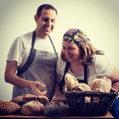 The Baker and the Baker's Wife, David and Devorah Katz. Artisan Bread, How To Make Bread, Photo Shoot, Breads, Bakery, David, Tasty, Photoshoot, Bread Rolls