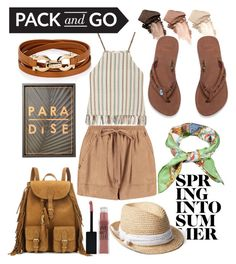 """LAIA"" by mariafdezromero ❤ liked on Polyvore featuring Urban Decay, Salvatore Ferragamo, Miguelina, Boohoo, Yves Saint Laurent, Maybelline, Gap and Gucci"