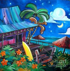 Surf Shack by Jerri Grindle Love that relaxed vibe... Maybe a trip to Hawaii next summer?