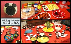 Mickey Mouse Birthday Ideas | had hot dogs, veggie trays, deviled eggs, potato salad, Mickey Mouse ...