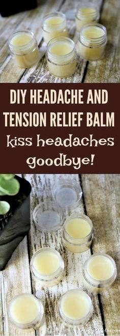 The Best DIY Headache and Tension Relief Balm - Happy Mothering - - Dealing with headaches and tension? If you're looking for a great natural remedy for headaches, this DIY headache and tension relief balm works wonders. Natural Headache Remedies, Cold Home Remedies, Natural Health Remedies, Natural Cures, Natural Healing, Herbal Remedies, Natural Treatments, Natural Beauty, Natural Foods