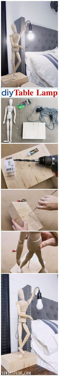 How to make your own DIY lamp.