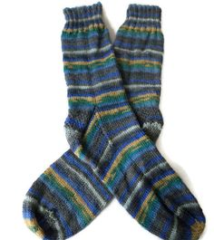 Socks Hand Knit Men's Striped Socks Size by PointedNeedle Knitting Socks, Hand Knitting, Mens Striped Socks, Comfy Socks, Etsy Christmas, Unique Gifts, Casual Outfits, Size 10, Pairs