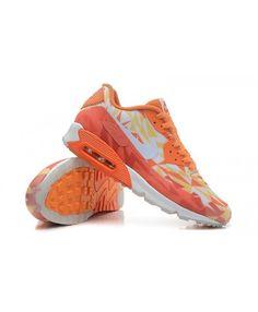 Nike Air Max 90 Ice Womens Mens Tour Orange Bright Orange Noble White Trainer