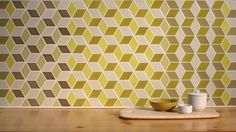 Legendary pottery makers Heath Ceramics have launched Mural, the latest in their series of pre-configured pattern combinations for tile. The first in the series is called Twill and it uses the Little Diamond shape from their Dwell Patterns collection in six different glazes to create a multidimensional, mind-tripping pattern. Each of the eight color ways combines the six glazes, including matte and gloss, into a pre-selected, dynamic configuration. #design #ceramic
