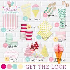 Ice Cream themed 10th birthday party via Kara's Party Ideas KarasPartyIdeas.com Cake, decor, printables, favors, and more! #icecream #icecreamparty #pastelparty #pastel #girlyicecreamparty (22)