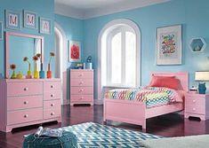 Bronett Twin Panel Bed, Dresser & Mirror