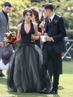 Shenae Grimes black Vera Wang wedding gown