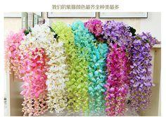 110cm 75cm Wisteria Wedding Decor Wedding Flower Artificial Flower Silk Flower Home Decoration Wedding Decorations Party Decoration From Ginnystore, $1.52   Dhgate.Com