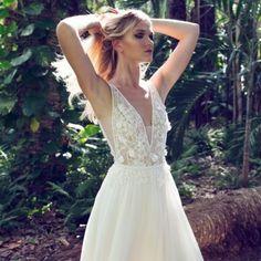 cea0230d2f4 Birds of Paradise - Limor Rosen Bridal Couture. weddinggawker