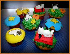 Como nata para chocolate: Cupcakes de Snoopy
