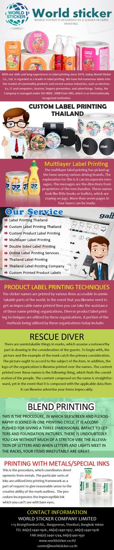 Worldsticker is a trusted name in package labeling and decoration custom printed product labels and