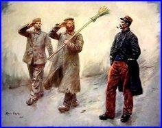 Les corvées de quartier au camp des prisonniers allemands de Dinan, 1915  Maurice Orange 1867-1916  France.JPG