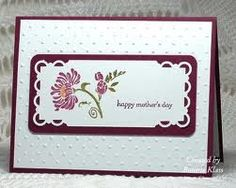 stampin up mother's day card