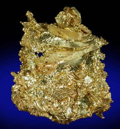 Second Detail of Gold (crystallized) from Eagle's Nest Mine, Michigan Bluff District, Placer County, California