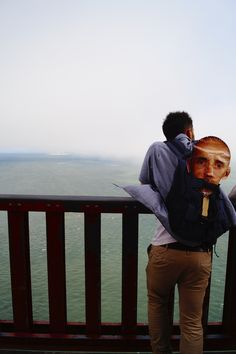 met this guy at golden gate bridge and I just had to take a picture of him. so silly and awkward but I love it!