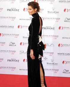 #StanaKatic rocking the red carpet of @festivaltvmonte_carlo . @absentiaseries #Absentia @drstanakatic