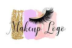 PLEASE READ before purchasing a logo: ............................................................................................... This is a premade logo, designed by me. The design will be resold, it is not an ooak logo. *Name change will be made only after your purchase. *If you Custom Logo Design, Custom Logos, Bussines Ideas, Nail Logo, Eyelash Logo, Makeup Artist Logo, Lashes Logo, Salon Names, Artist Business Cards