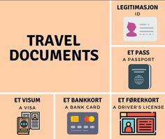 Swedish Language, Foreign Language, Id Travel, Norwegian Words, Norway Language, Bank Card, Knowledge, Learning, Study