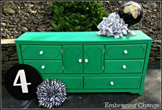 Emerald Green Dresser 1  - Embracing Change