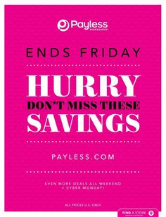 Payless Black Friday 2018 Ads and Deals Browse the Payless Black Friday 2018 ad scan and the complete product by product sales listing. Black Friday Ads, Cyber Monday, Black Shoes, Coupons, Coupon, Black Dress Shoes
