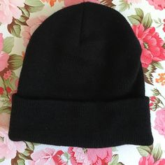 Black Beanie from Urban Outfitters Never worn. Urban Outfitters Accessories Hats