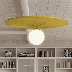 Acoustical Lighting – Luminart Lighting Interior Lighting, Lighting Design, Ceiling Lamp, Ceiling Lights, G9 Led, Light Building, Visual Comfort, Diffused Light, Acoustic