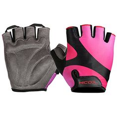 HiCool Cycling Gloves with Shockabsorbing Foam Pad Breathable Half Finger Bicycle Gloves Red Large -- Check this awesome product by going to the link at the image.