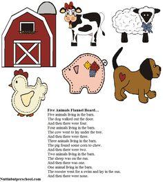 Five Animals Flannel Board