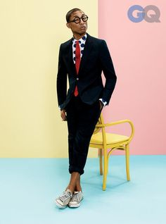 Pharrell, sharp as ever
