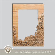 Product laser cut photo frames template, online laser cut design store. @ shop-msl.com Frame Template, Templates, Cut Photo, Kids Decor, Laser Cutting, Invitations, Wall Art, Mirror, Interior Design