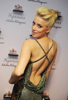 Amber Heard...um can I have your updo?
