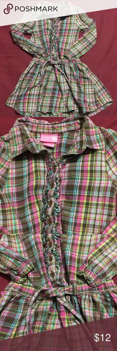 🎉5/$25 Girls Plaid Dress Pink & Brown Sz 5 Girls plaid dress with buttons, ruffles and tie waist Brand: J. Khaki Kids Color: Pink & Brown Size: 5  See my other listings with 5 for $25 SALE and save on a bundle! Lots of clothes, makeup and new boutique items. Great for Christmas gift giving or stocking stuffers. I love accepting offers. J. Khaki Kids Dresses