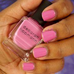 "Deborah Lippmann nail lacquer in ""Constant Craving"". Beautiful pink nail polish.  IG: @Fembot310"