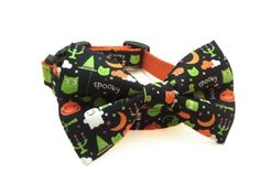 Dog Bow Tie Collar | Halloween Boo Crew | soopertramp