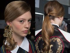 love the softly curled ponytail