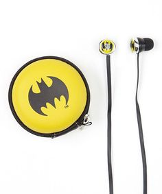 Another great find on #zulily! Batman Earbuds by Batman #zulilyfinds