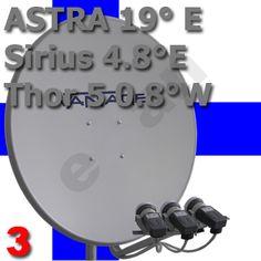 Finnische- Komplett - Anlage :: Multifeed- Komplettanlage Astra 19 Thor 5 Sirius 4