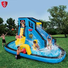 Inflatable Bounce House Water Slide Kids Outdoor Play Backyard Jumper Pool