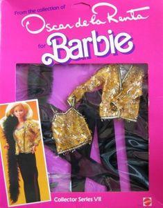 Amazon.com: Barbie Oscar de la Renta Fashions Collector Series VII (1984): Toys & Games