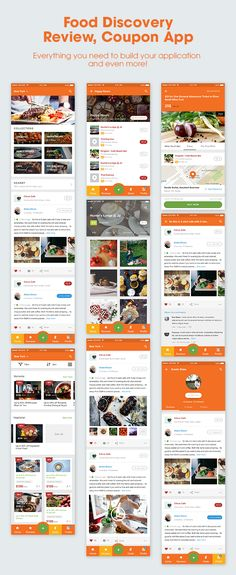Buy - Mobile UI KIT for Food & Beverage App Ecosystem by ntmediasoft on ThemeForest. is a mobile UI KIT which includes super high quality, retina ready, pixel perfect and all-vector-based sc. Android App Design, Android Ui, App Ui Design, Mobile App Design, Best Android, Mobile Ui, App Design Inspiration, Applique, Likes App