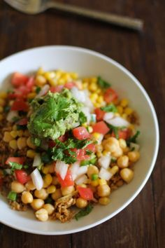 Cauliflower Rice Burrito Bowls with pico de gallo and guacamole - - - > http://www.theroastedroot.net