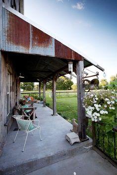 A barn/house patio