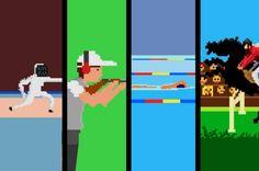 Muito bacana essa animação feita pela produtoraFlikli,mostrando as Olimpíadas num formato retrô de videogame 8-bits. A musiquinha é bem irada também.Via